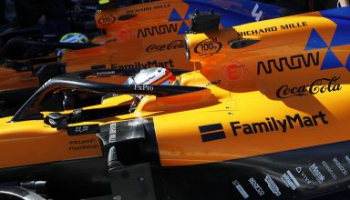 Sainz and Norris McLaren MCL34 side view Japanese GP F1 2019 Photo McLaren