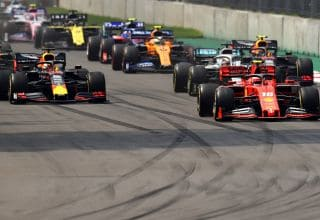 Verstappen Hamilton Leclerc Albon Mexican GP F1 2019 start Photo Red Bull