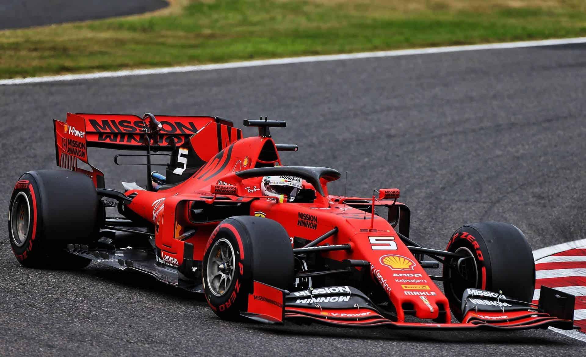 Vettel Ferrari SF90 Japanese GP F1 2019 soft Photo Ferrari