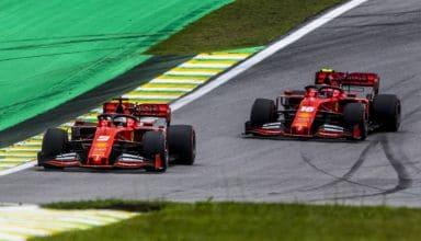 Charles Leclerc Sebastian Vettel Ferrari Brazilian GP F1 2019 qualifying Photo Ferrari