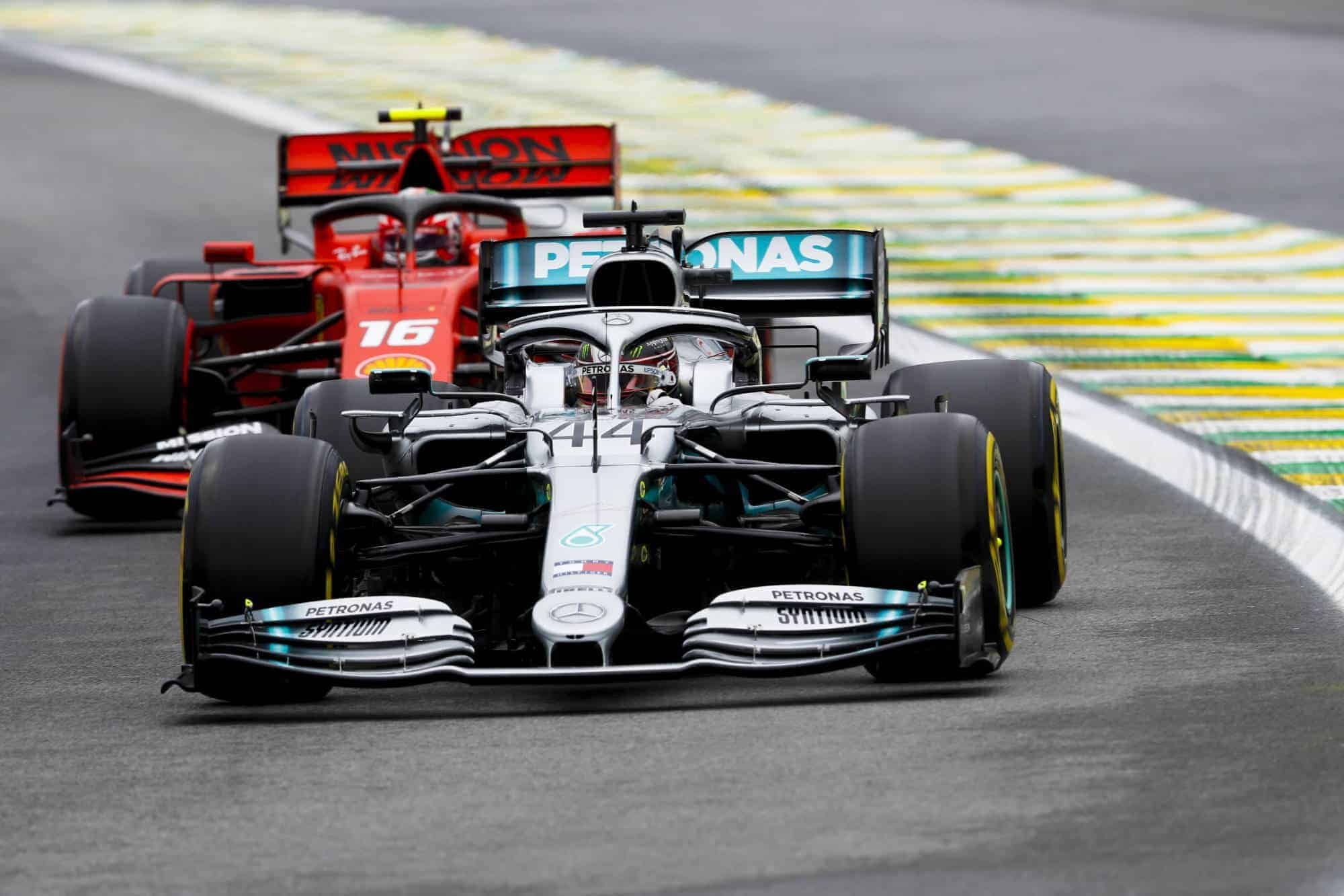 Hamilton Leclerc Brazilian GP F1 2019 FP2 Photo Sky Sports F1
