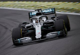 Hamilton Mercedes Brazilian GP F1 2019 FP2 medium Pirelli Photo Daimler