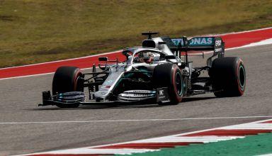 Hamilton Mercedes USA GP Austin F1 2019 Q Photo Daimler