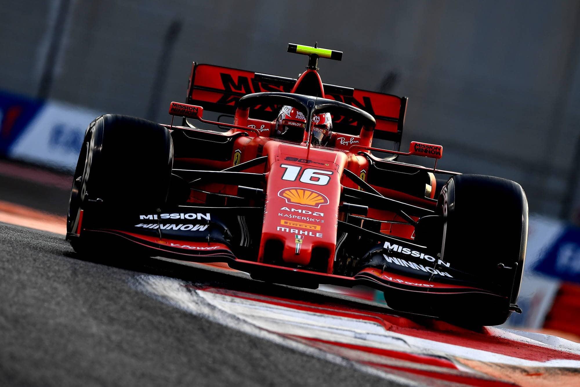 Leclerc Ferrari Abu Dhabi GP F1 2019 night Photo Ferrari