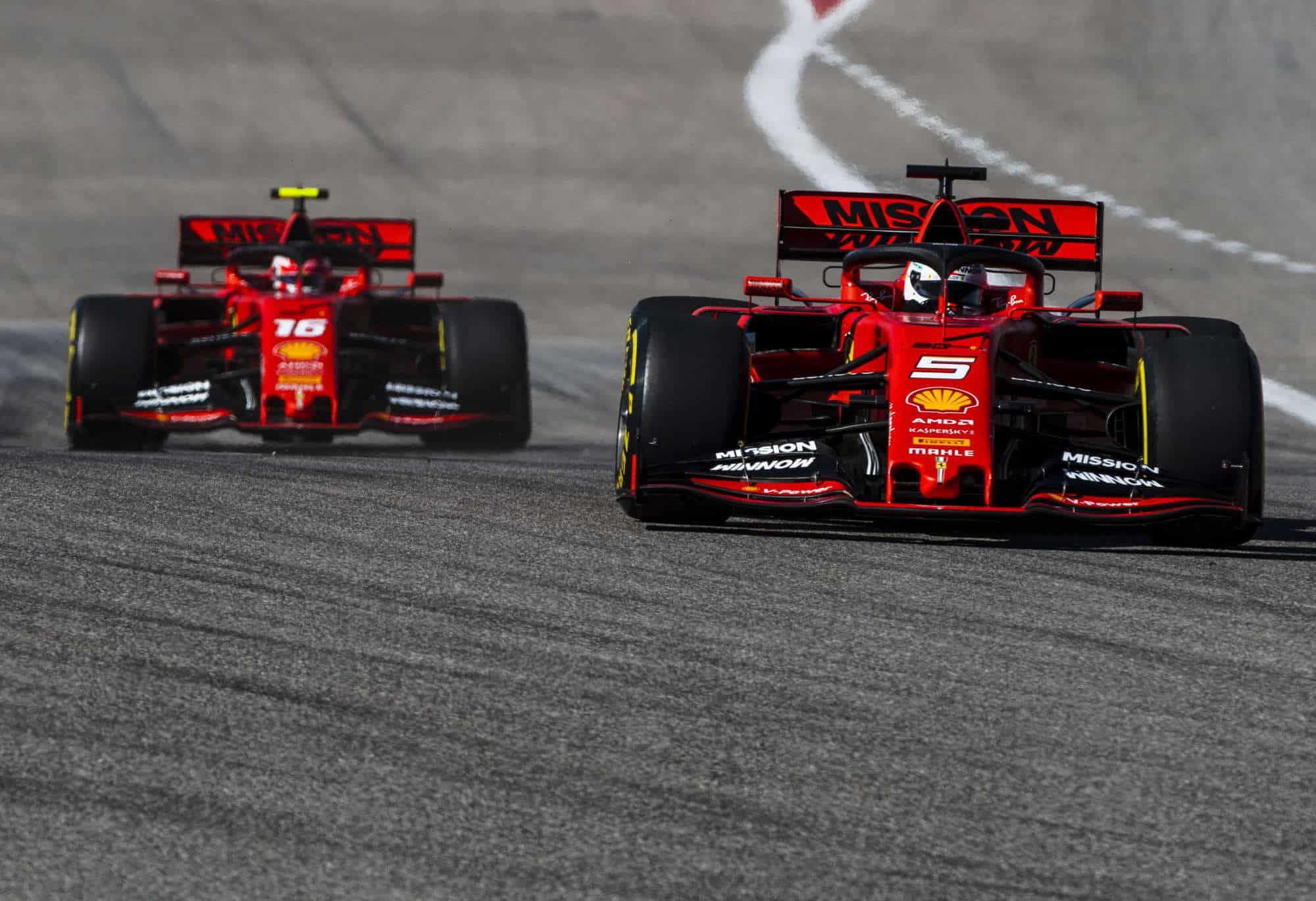 Leclerc Vettel Ferrari 2019 USA GP F1 2019