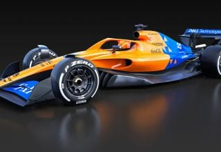 McLaren F1 2021 render F1 Concept October 31st front left view Photo McLaren Twitter
