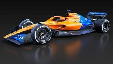 McLaren F1 2021 render F1 Concept October 31st front left view Photo McLaren Twitter