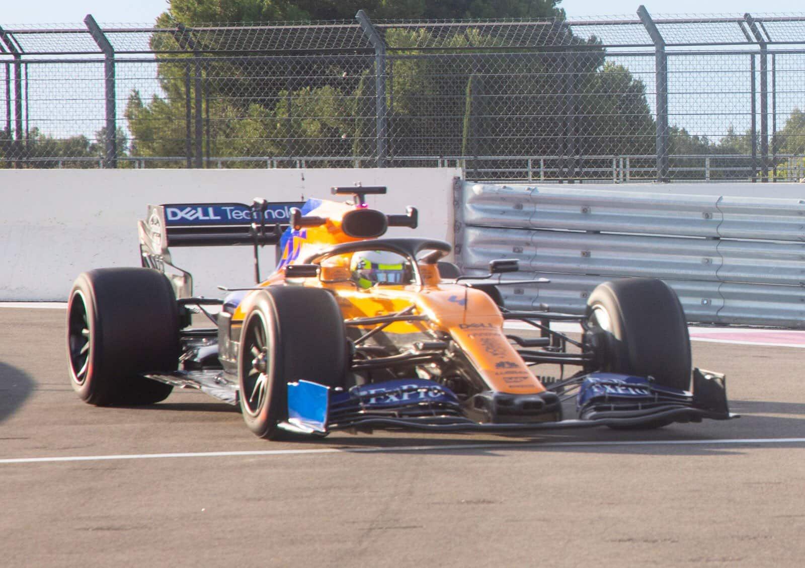 McLaren MCL34 Pirelli F1 18 inch tyres test Photo McLaren Twitter