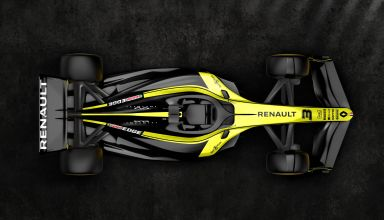 Renault F1 2021 render F1 Concept October 31st top view Photo Renault Twitter