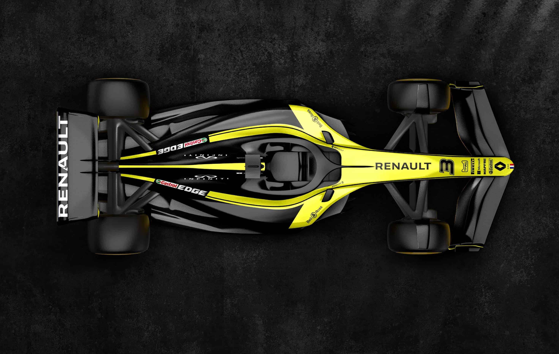 Renault F1 2021 render F1 Concept October 31st top view Photo Renault Twitter