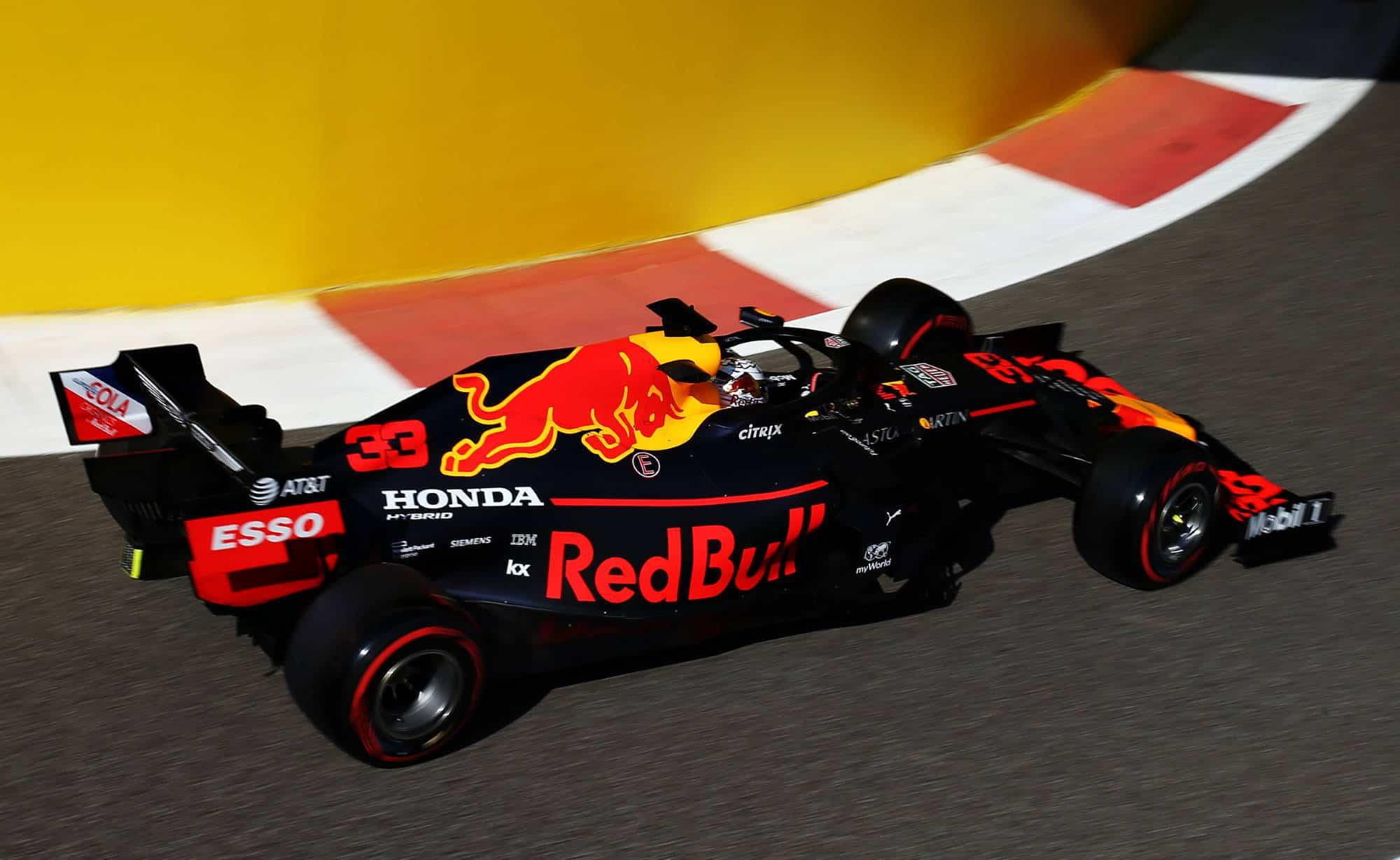 Verstappen Red Bull Abu Dhabi GP F1 2019 pitlane exit Photo Red Bull
