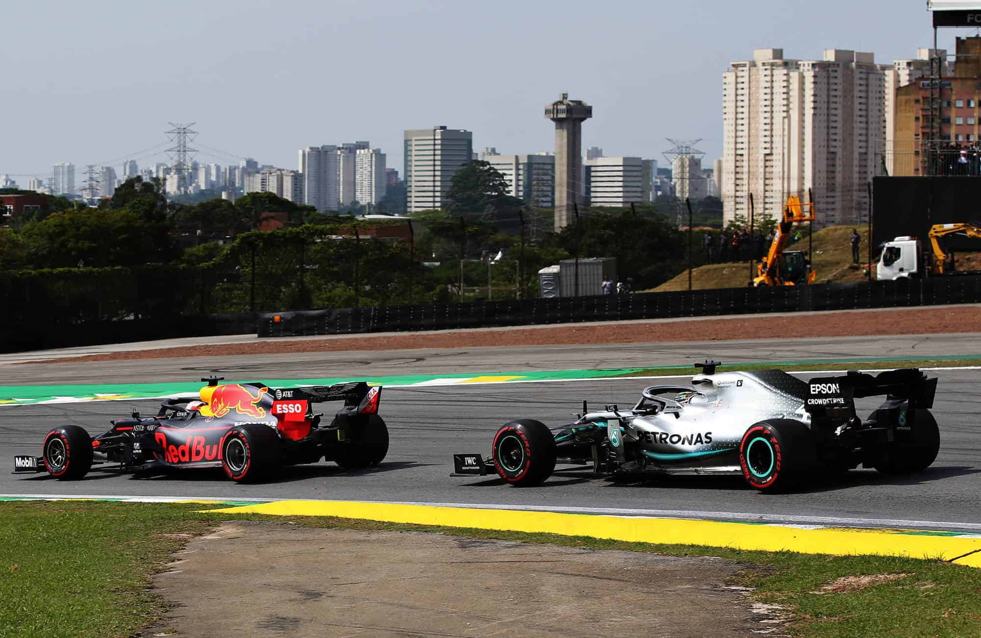 Verstappen leads Hamilton Brazilian GP F1 2019 Photo Red Bull