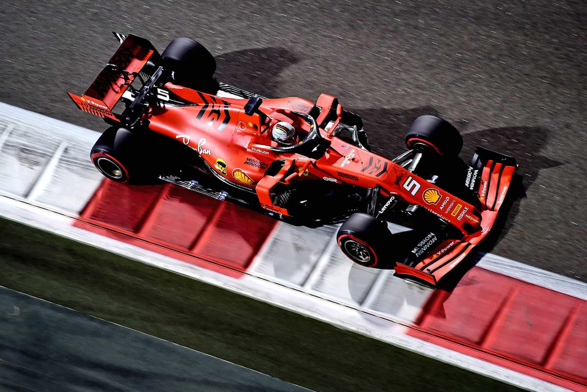 Vettel Ferrari Abu Dhabi GP F1 2019 night Photo Ferrari