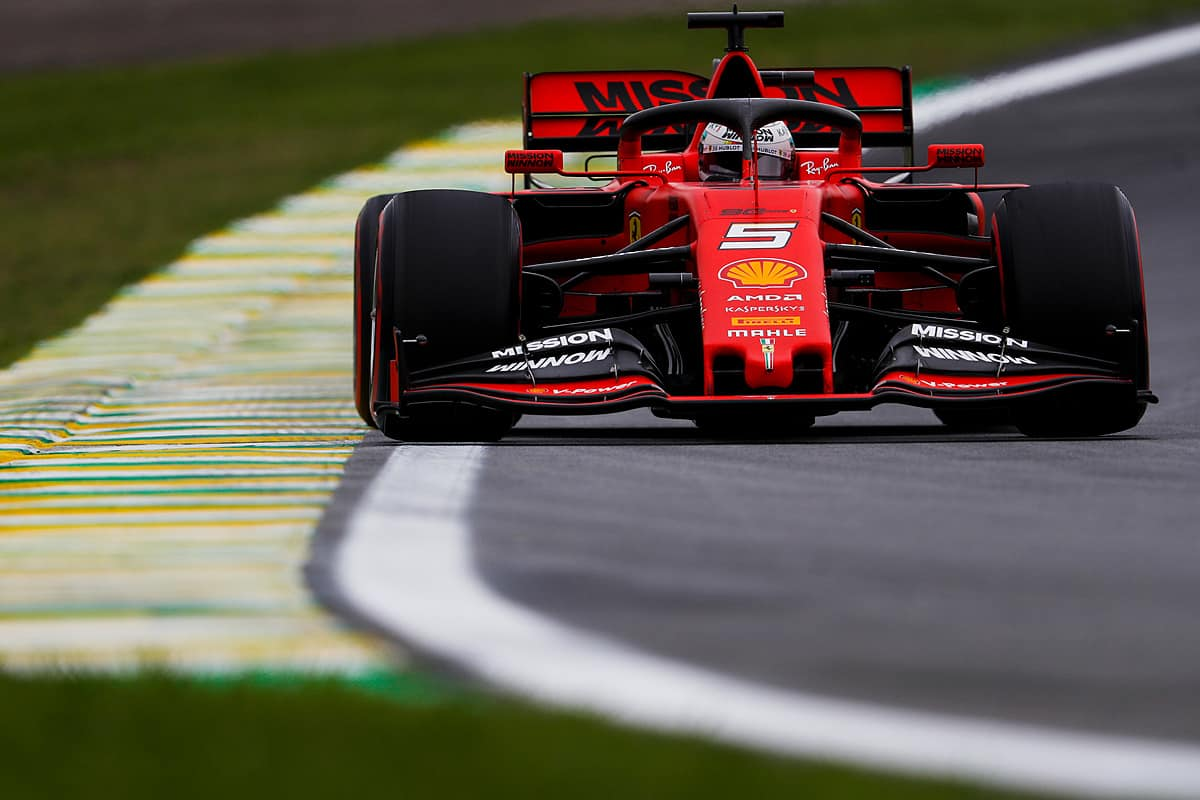 Vettel Ferrari Brazilian GP F1 2019 Photo Pirelli