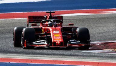 Vettel Ferrari US GP Austin F1 2019 Q Photo Ferrari