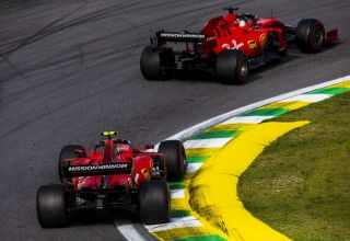 Vettel and Leclerc Ferrari Brazilian GP F1 2019 race Photo Ferrari
