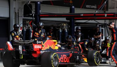 2019 Brazilian GP F1 2019 Verstappen Red Bull record pitstop 1-82 s Photo Red Bull