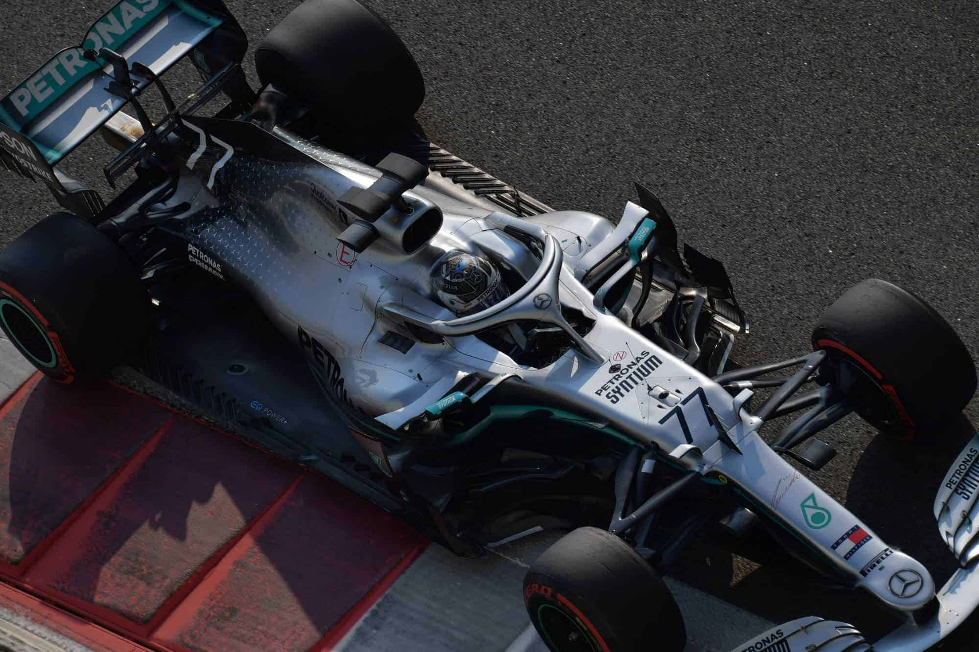 Bottas Mercedes F1 W10 post season Abu Dhabi F1 2019 test Photo Daimler