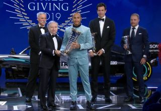 FIA 2019 Prize Giving Hamilton champion Screenshot F1-com