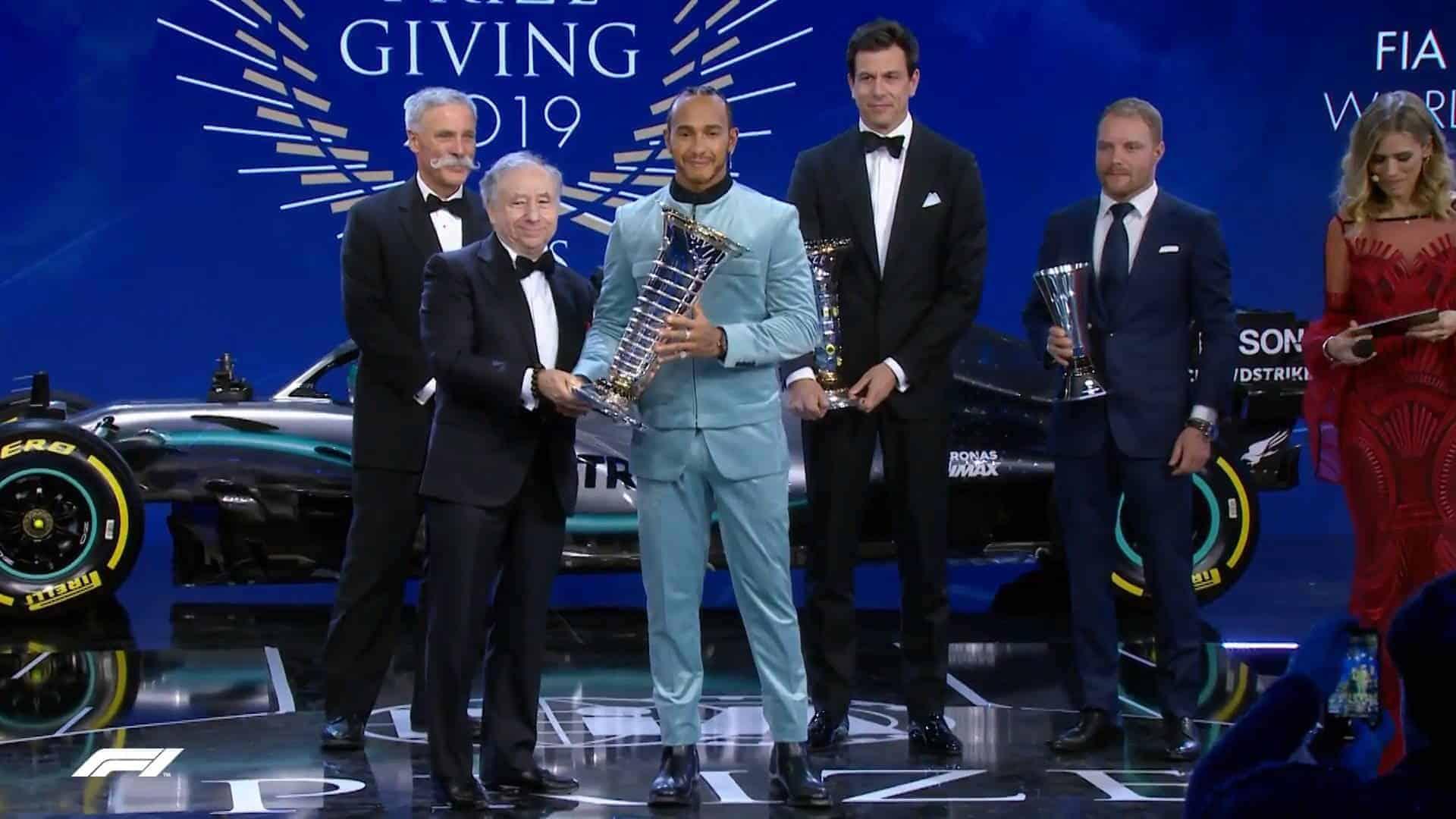 FIA 2019 Prize Giving Hamilton champion Screenshot F1-com