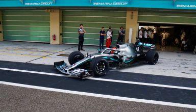 George Russell Mercedes F1 W10 18-inch wheels Abu Dhabi final test Pirelli Photo Pirelli
