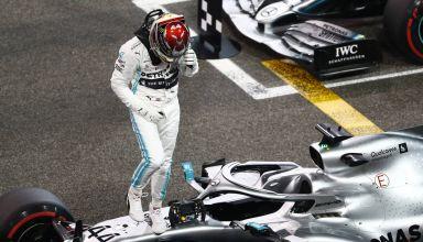 Hamilton Mercedes F1 2019 Abu Dhabi post qualifying Photo Daimler