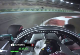 Hamilton Mercedes F1 W10 Abu Dhabi GP F1 2019 pole position onboard Screenshot Youtube F1-com