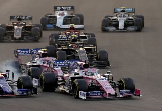 Perez leads Toro Rosso and Stroll 2019 Abu Dhabi GP race Photo Racing Point
