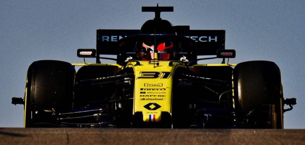 Renault Ocon first test Abu Dhabi F1 2019 wide Photo Renault Twitter