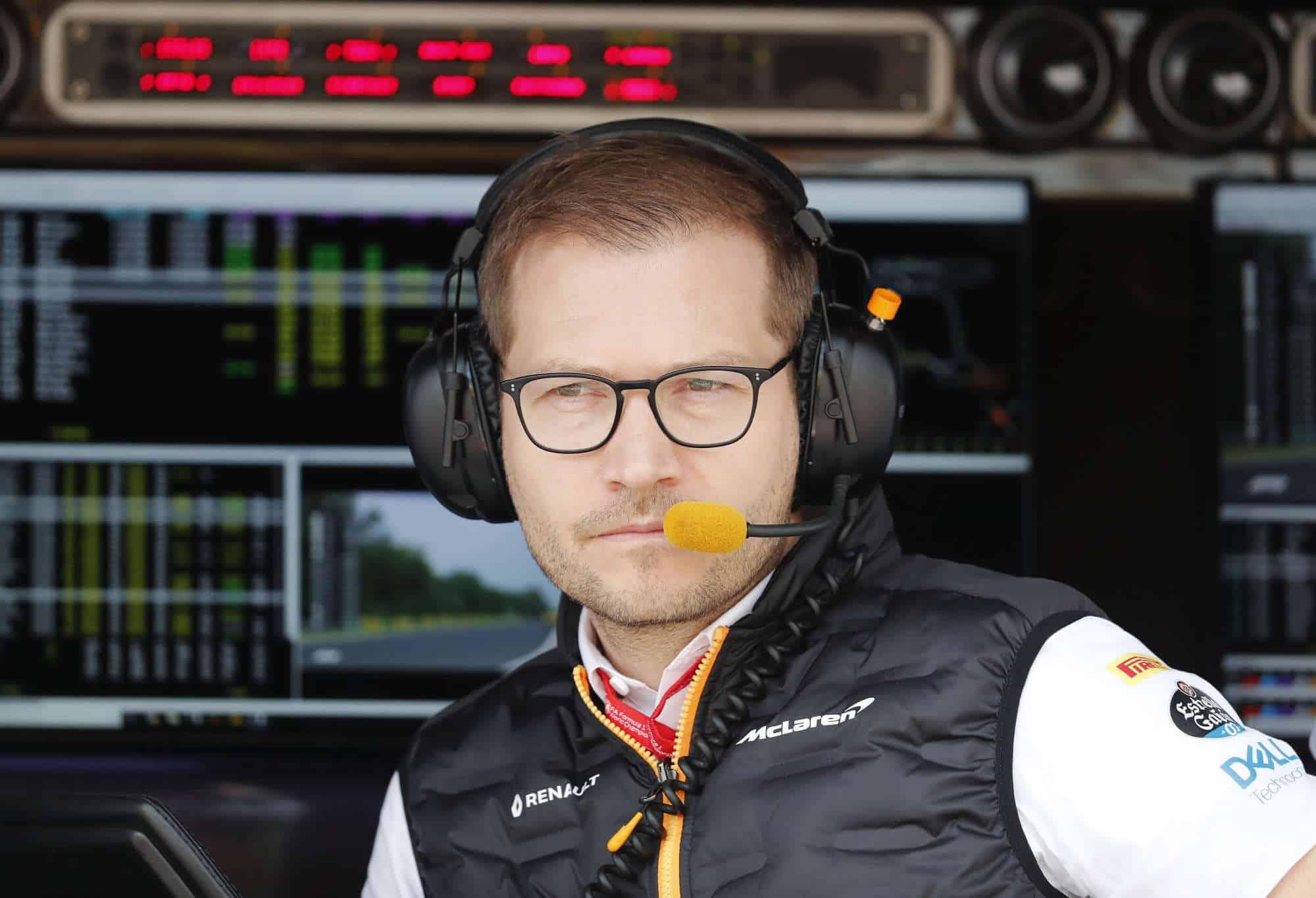 2019 Hungarian Grand Prix Saturday Andreas Seidl Photo McLaren