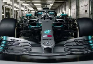 Mercedes F1 2019 W10 in factory Screenshot Mercedes F1 Twitter