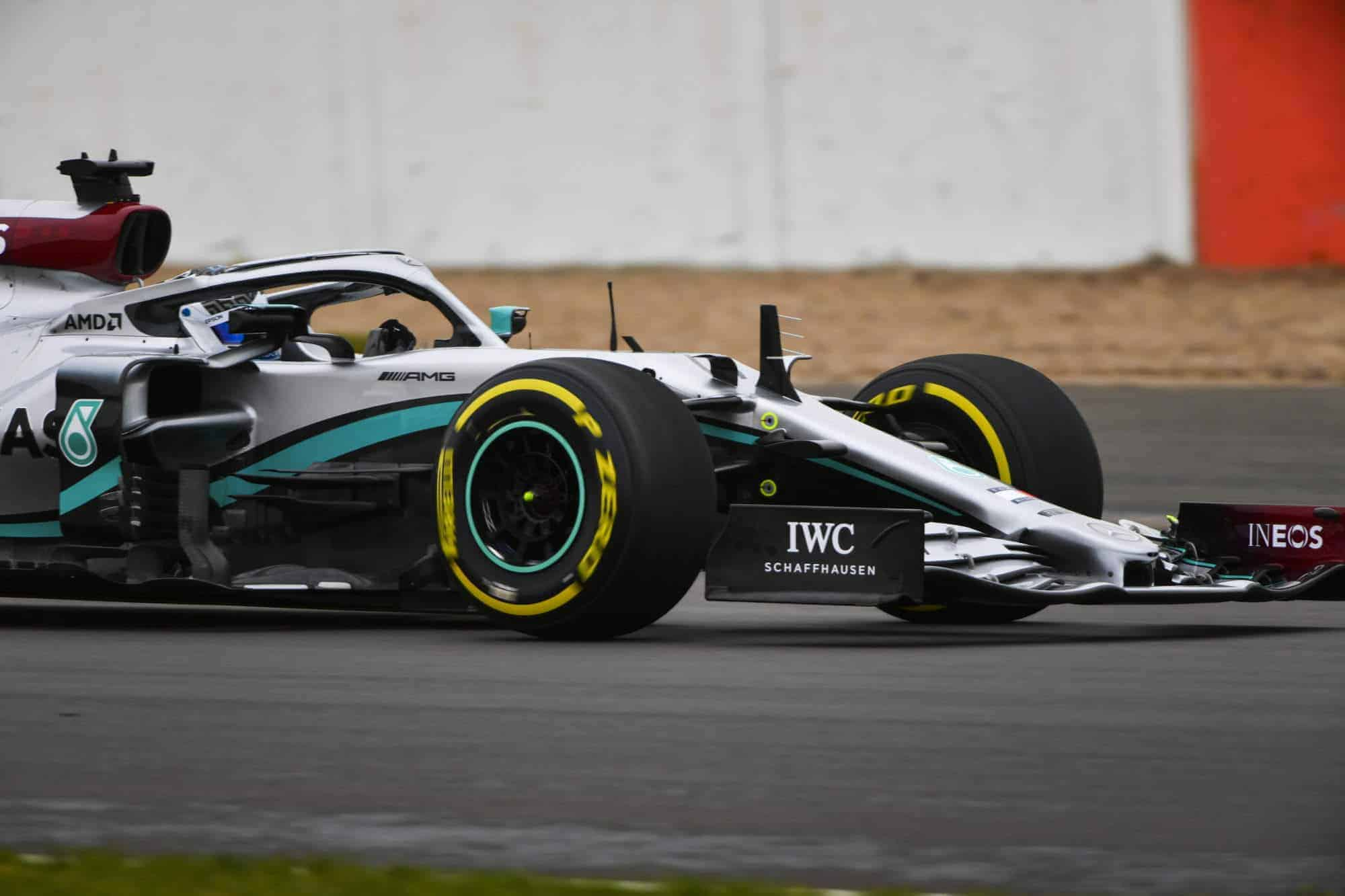 2020 F1 Mercedes F1 W11 first shakedown Bottas 2 2000px Silverstone Photo Daimler