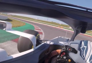 AlphaTauri AT01 onboard Misano F1 2020 first test Photo Red Bull AlphaTauri