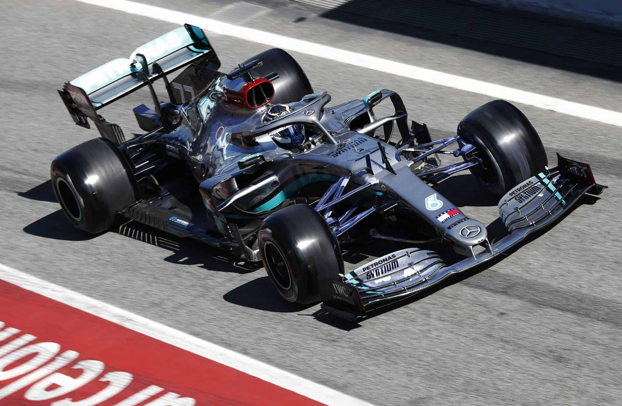 Bottas Mercedes F1 W11 Barcelona Test 1 Day 2 pitlane Photo Daimler