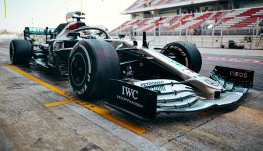 Bottas Mercedes F1 W11 Barcelona Test 1 Day 3 pitlane Photo Daimler