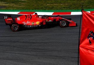 Charles Leclerc Ferrari SF1000 Barcelona Test 2 Day 3 side C4 Pirelli Photo Ferrari
