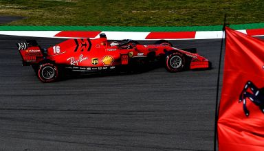 Charles Leclerc Ferrari SF1000 Barcelona Test 2 Day 3 side C4 Pirelli Photo Ferrari