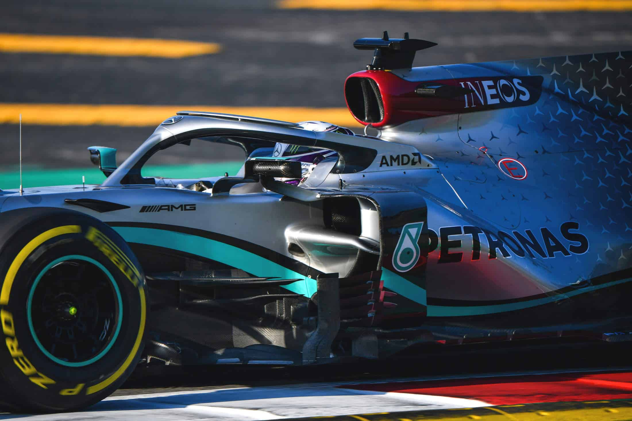 Hamilton Mercedes F1 W11 Barcelona Test 1 Day 2 Photo Daimler