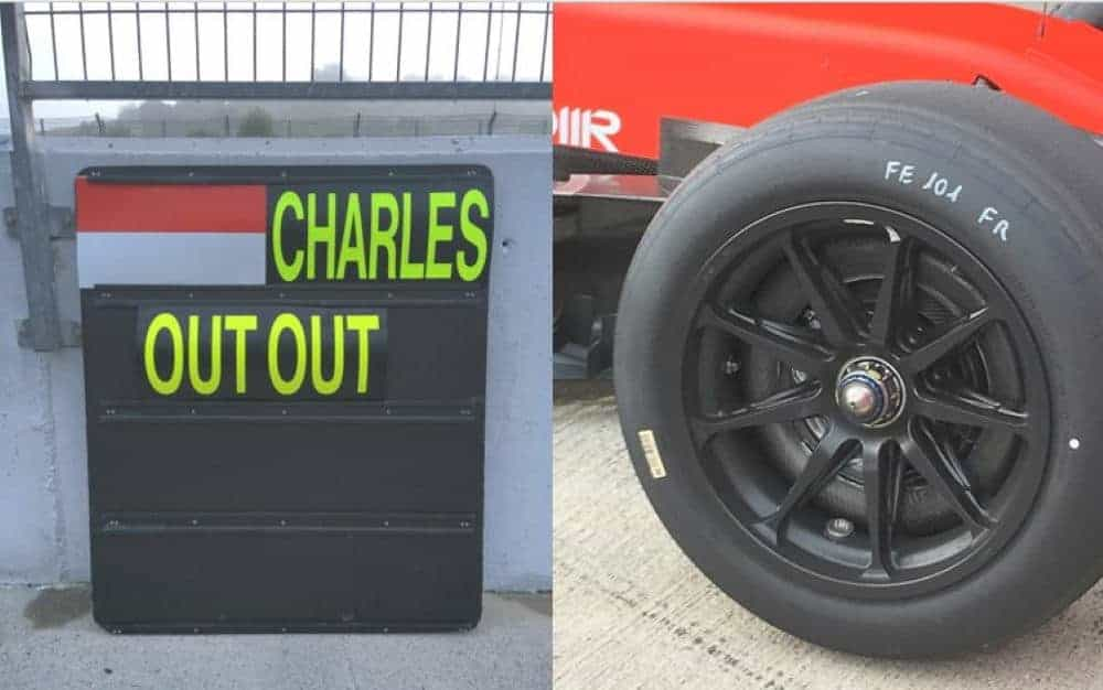 Leclerc Ferrari 18-inch wheel 8 October 2020 Charles Out Out Photo Pirelli