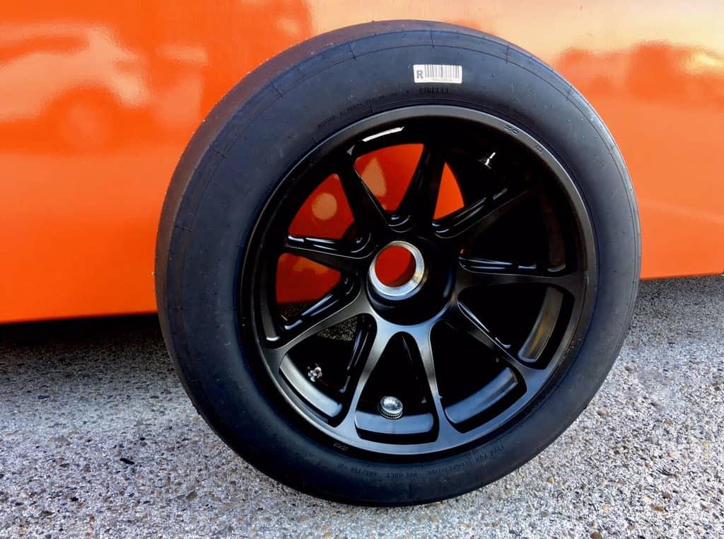 Leclerc Ferrari 18-inch wheel 8 October 2020 Photo Pirelli
