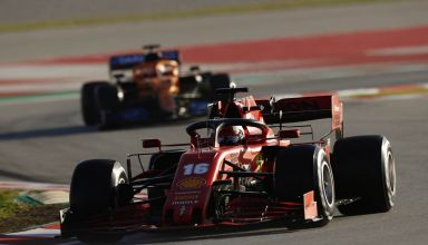 Leclerc Ferrari leads McLaren F1 2020 Test 2 Day 3 Photo Pirelli