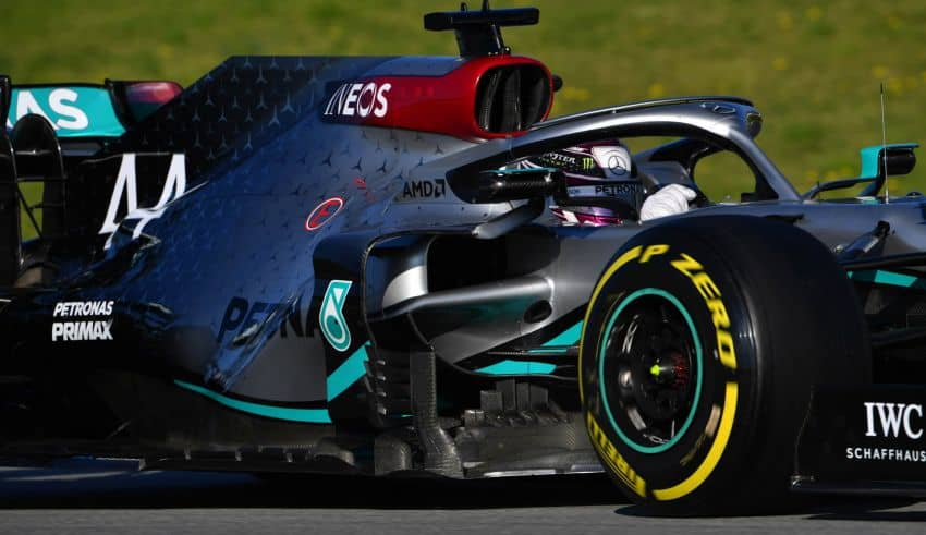 Lewis Hamilton Mercedes F1 W11 Barcelona Test 2 Day 3 side Photo Daimler