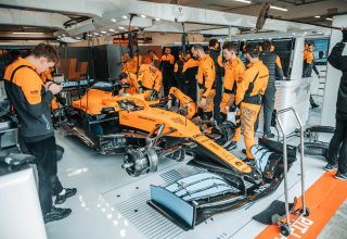 McLaren F1 2020 MCL35 filming day 16 February 2020 Photo McLaren