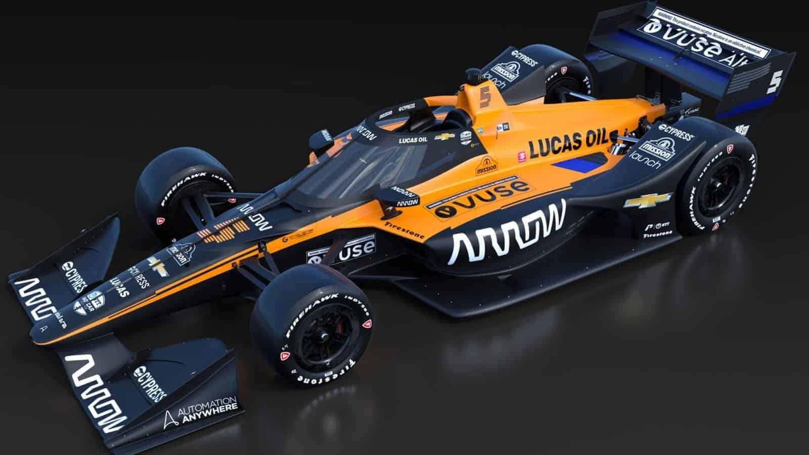 McLaren Indycar 2020 side black Photo McLaren