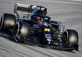 Renault RS20 Ocon Barcelona Test 1 Day 1 close Photo Renault
