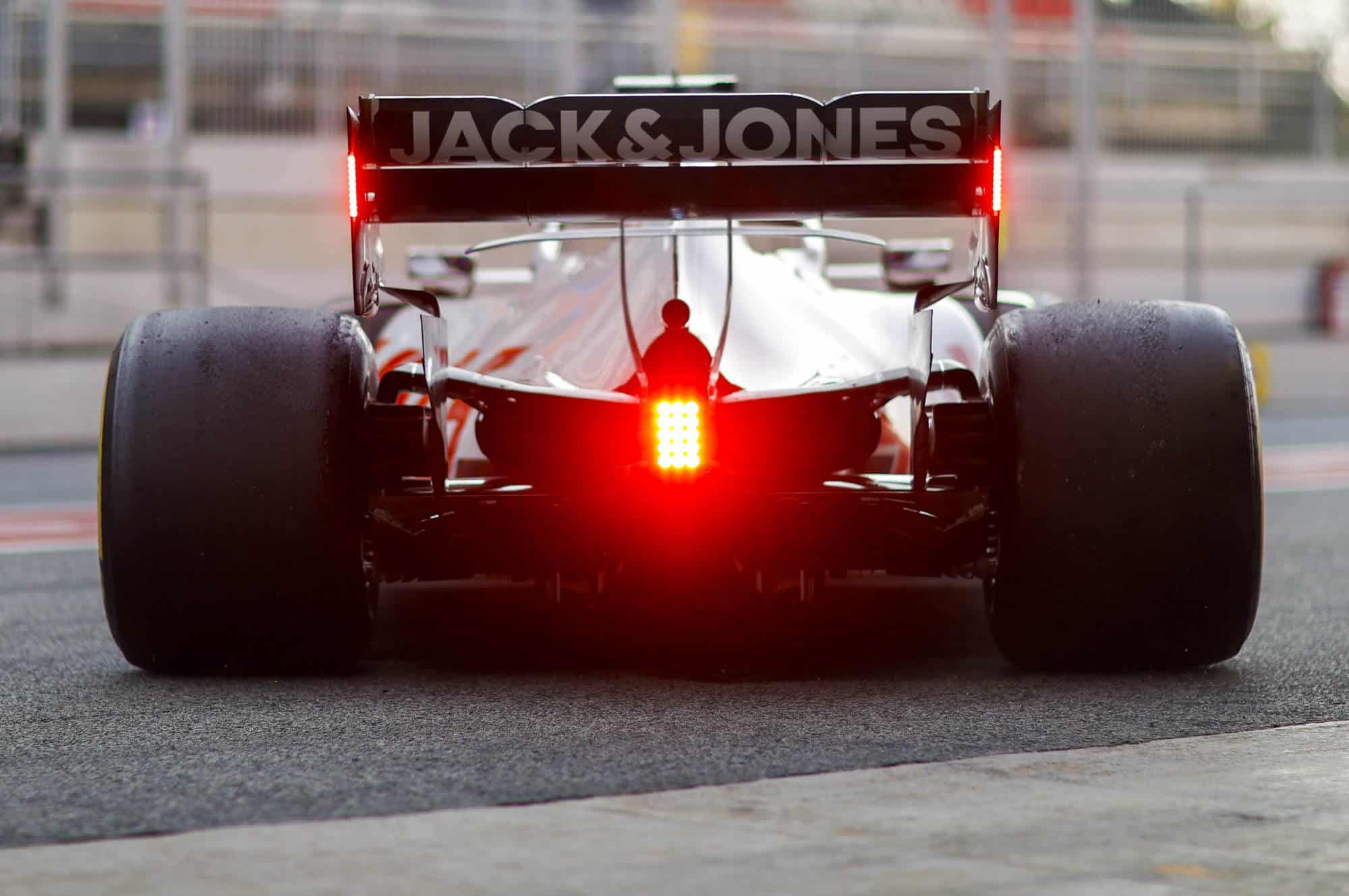 Romain Grosjean Haas VF-20 Barcelona Test 1 Day 3 rear end Photo Haas