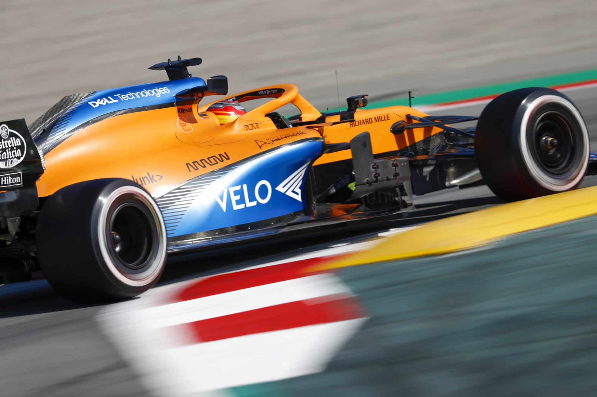 Sainz McLaren MCL35 Barcelona Test 1 Day 3 Photo McLaren
