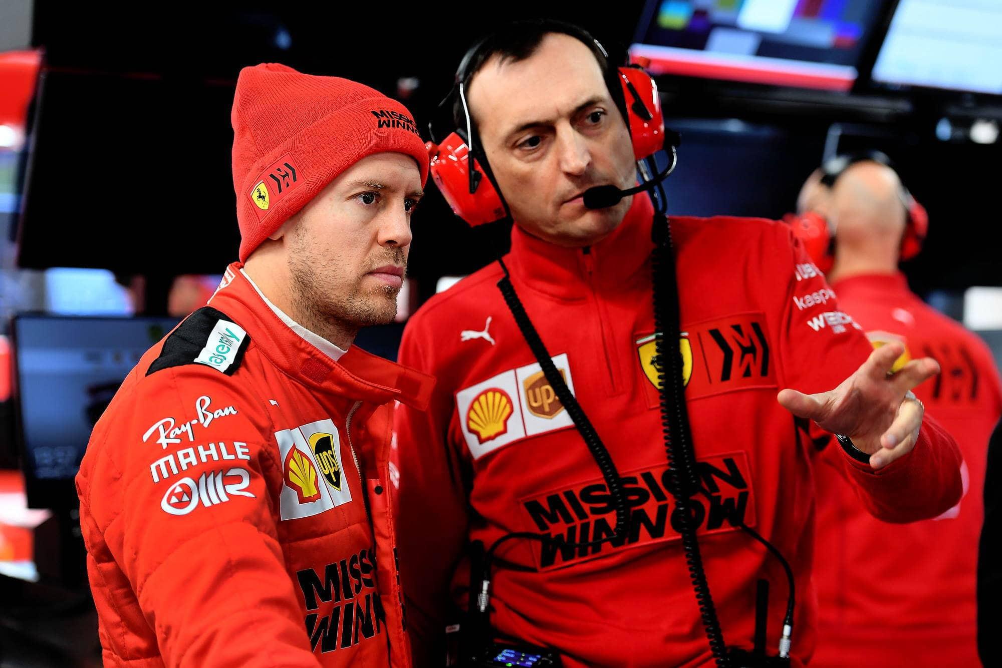 Sebastian-Vettel-Ferrari-SF1000-Barcelona-Test-1-F1-2020-pits-Photo-Ferrari
