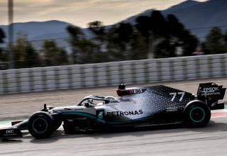 Valtteri Bottas Mercedes F1 W11 Barcelona Test 2 Day 2 side Photo Daimler