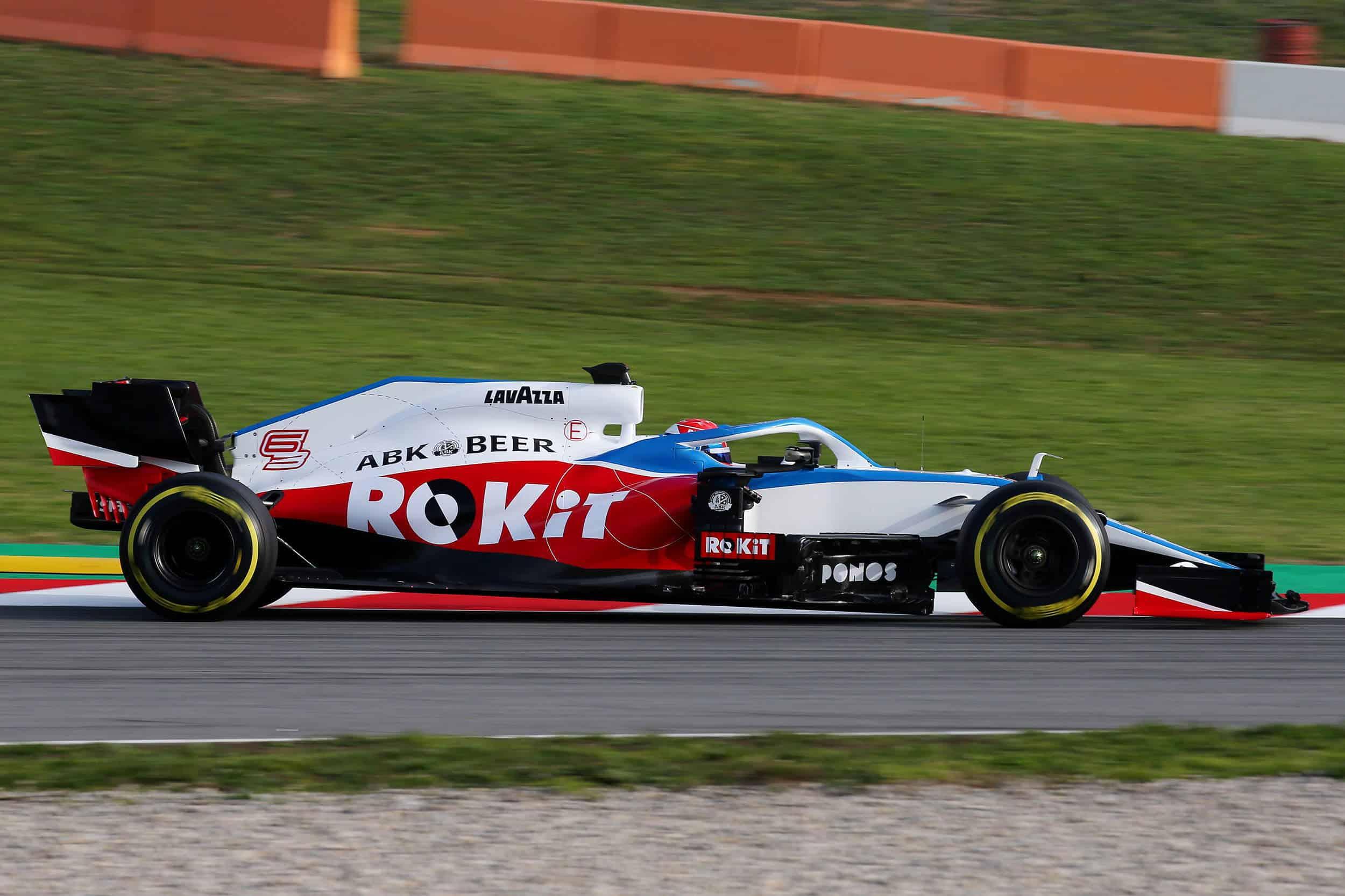 Williams FW43 F1 2020 car on track 2 Photo Williams
